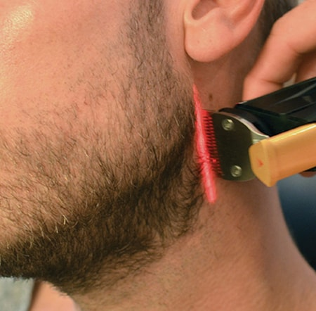 How to trim a perfect beard neckline