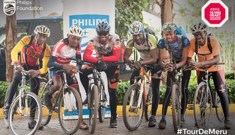 The campaign is geared at raising awareness of good heart health through public biking challenges aimed at motivating exercise and lifestyle changes which may culminate in Philips donating Automated External Defibrillators (AED's) to the Kenya Red Cross for use in public spaces in Kenya.