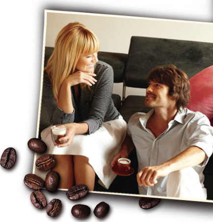 Couple enjoying espresso specialities